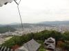 秋の松山城(天守閣三階より東方向の眺望)の写真です。クリックすると拡大します。