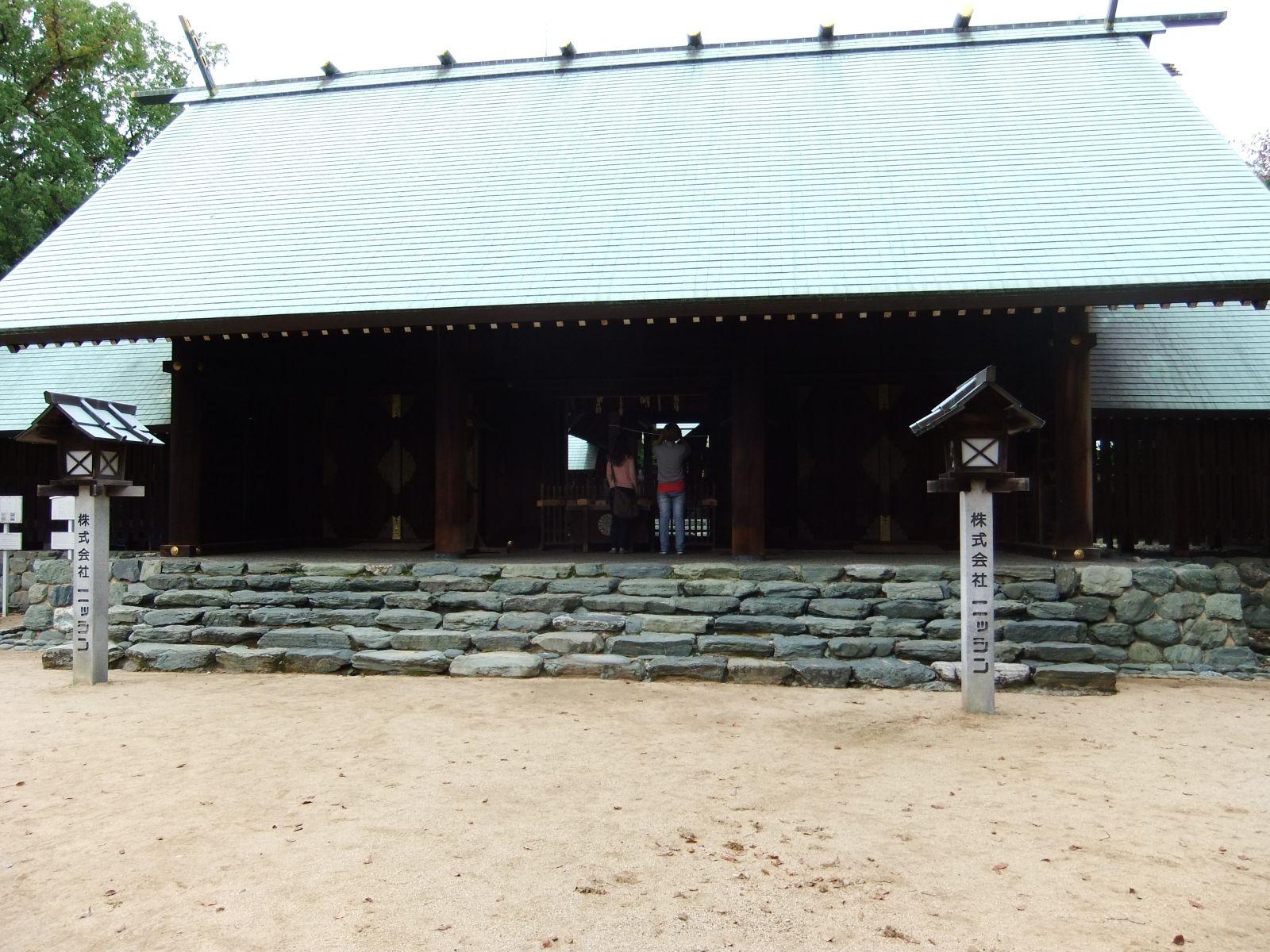 秋の松山城(東雲神社)の写真です。クリックすると拡大します。