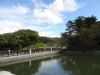 秋の松山城(西堀端より撮影)の写真です。クリックすると拡大します。