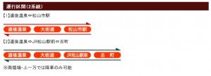 坊っちゃん列車系統図です。クリックすると拡大します。