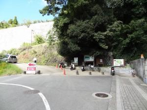 県庁裏登城道の登り口の写真です。クリックすると拡大します。
