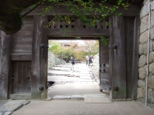 松山城、太鼓門のの写真です。クリックすると拡大します。
