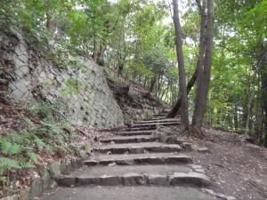 松山城、黒門口登城道の写真です。クリックすると拡大します。