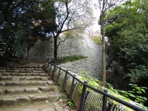 """松山城、黒門口登城道の写真です。クリックすると拡大します。"""""""
