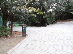 県庁裏登城道、登り終点の写真です。クリックすると拡大します。